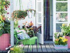 Liten balkong dekorere
