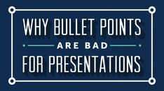 You've probably heard this advice before: Don't use bullet points in your presentations. Butdo you know why presentation design experts are so adamantly opposed to the bullet point format? Here's the simple, but perhaps surprising, explanation to why bullet points are bad for presentations: Bullet