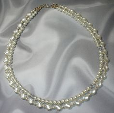 #Double Strand Pearl Necklace    repin ..  like ...share :)    $96.00 Discount Price!   http://amzn.to/UYm0uQ