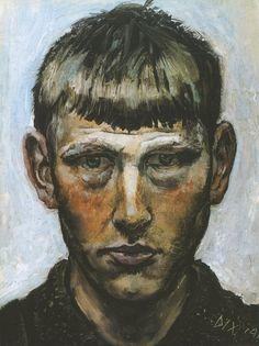 'Self-portrait' by Otto Dix, 1913