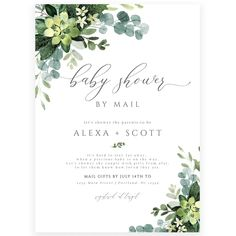 Eucalyptus Shower by Mail Invitation | Forever Your Prints