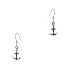 Outlander Inspired Anchor Silver Drop Earrings   Scottish Jewellery