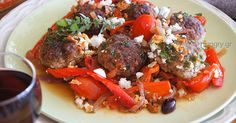 Kitchen Stories: Summer Meatballs with Peppers & Feta