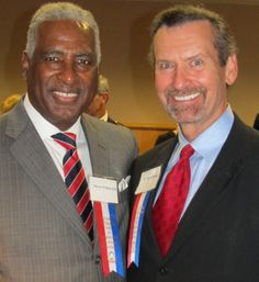 Mayor Bell and Dr. Dyson at National Veterans Day Birmingham 2012