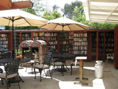 The biggest outdoor bookstore in the world, this photo doesn't really do the place justice — it's all about the view. Bart's Books, Ojai, California [photo via]