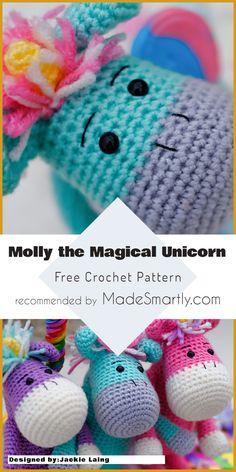 Molly the Magical Unicorn [Free Crochet Pattern] #crochet #amigurumi #toys