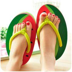Summer cool platform beach slippers