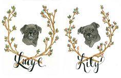 Lucy & Lily Black Pug Portraits, via Flickr.#petportraits