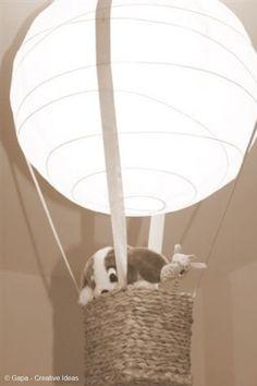 Lamp for kids room. Cute idea!
