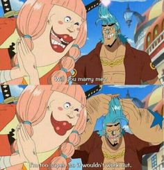 One Piece | Sorry Lola, Franky's too Suupeerrrr ;)