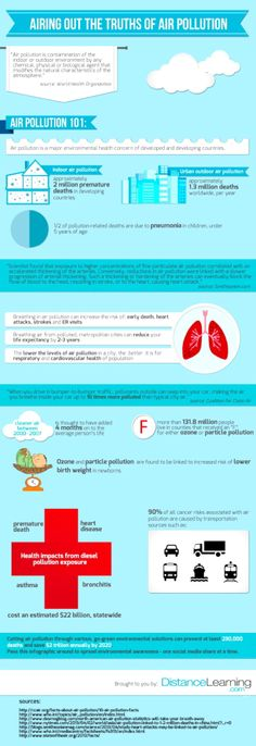 Truths of air pollution info graphic (DistanceLearning.com)
