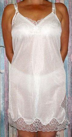 Unterkleid / Nachthemd weiß mit Spitze ....Graziella..... neu Größe 40