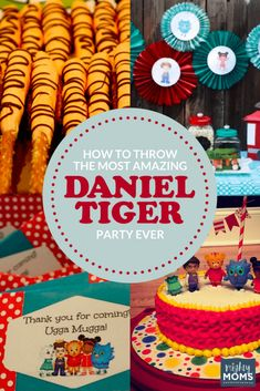 Is your kid as obsessed with Daniel Tiger as mine? Why not delight them with a Daniel Tiger party? These Daniel Tiger birthday party ideas will inspire you! 3 Year Old Birthday Party, Baby First Birthday, First Birthday Parties, Birthday Ideas, Birthday Fun, Princess Birthday, Birthday Cake, Daniel Tiger Party, Daniel Tiger Birthday