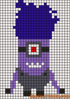Despicable Me Evil Minion perler bead pattern