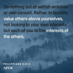 NIV Verse of the Day: Philippians 2:3-4