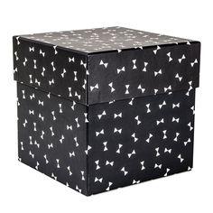 Box BOW svart/vit