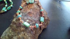 Hand linked copper bracelet one of a kind by halfmoonunder on Etsy