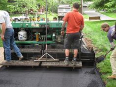 Installing an asphalt driveway