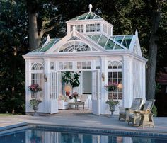 gorgeous pool house/gazebo ♥