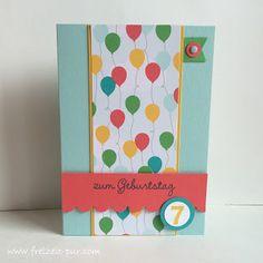 StampinUp! ABC-123SketchAlphabet-Numbers, Stampin'Up Designerpapier, Wir feiern, Ballons, Kindergeburtstag