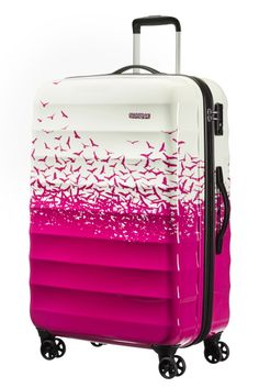 American Tourister Palm Valley Spinner 77cm Fly Away Pink Limited Edition