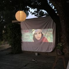 Salle de cinéma en plein-air.  Open air cinéma