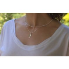 I love this. ~ Sterling Silver Feather Necklace - $39.00