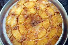 The Pineapple Upside Down Cake was invented in the 1920s.  Exactly when and by whom, it is not clear.  Some say the recipe, then entitled, Pineapple Glace, was printed in a fundraising cookbook in Seattle in 1924.  Others report that when the Hawaiian Pineapple Co, the predecessor of Dole Food Co, held a recipe contest in 1925, 2,500 of the 60,000 entries were for Pineapple Upside Down Cake.