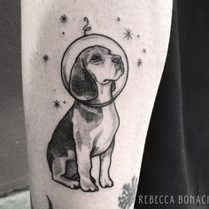 Dog tattoos available from our artists at The Ink Factory. Check out our page now for ideas and details on your Dog Tattoo. Contact our Dublin 2 shop today. Beagle Tattoo, Tatoo Dog, Leg Tattoos, Sleeve Tattoos, Cool Tattoos, Tattos, Tattoo Fonts, Tattoo Quotes, Small Dog Tattoos