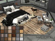 Parquet Set 4 by Pralinesims at TSR via Sims 4 Updates