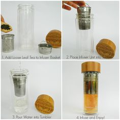 AmazonSmile | Tea Infuser and Fruit Infused Glass Water Bottle with Quality Stainless Steel Loose Leaf Tea Strainer, Bamboo Lid, and Neoprene Sleeve By Oxford Eve's. Replace Your Travel Mug with Our Tumbler Today!: Tumblers