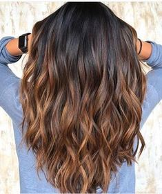 Ombre Hair Color For Brunettes, Brown Ombre Hair, Brown Hair Balayage, Hair Color Balayage, Brown Hair Colors, Haircolor, Blonde Hair, Hair Color Brunette, Ombre Hair Brunette