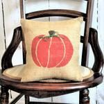 Pumpkin with Jute Bow Burlap Pillow – Kelley's Collection Pumpkin Pillows, Fall Pillows, Throw Pillows, Burlap Fabric, Burlap Pillows, Thanksgiving Decorations, Halloween Decorations, Fall Decorations, Halloween Pillows