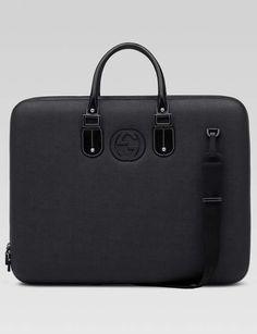 7cf46c0a46e Gucci mens black coated fabric garment bag 1 Gentleman