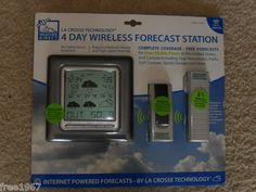 $27.99 obo! BRAND NEW La Crosse Technology 4 Day Wireless Forecast Station 330 ft Wireless! Found on @eBay! http://r.ebay.com/KF7O5v