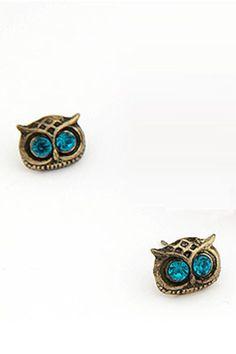 Vintage Owl Ear Stud