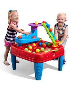 Step2 Ball Buddies Double Drop | Best Price and Reviews | Zulily Outdoor Toys, Indoor Outdoor, Entertainment Table, Let Them Be Little, Catapult, Pulley, Basin, Discovery, Red And Blue