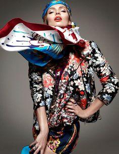 Super Fashion | Vogue Germany Issue: January 2012 Model: Carola Remer Photographer: Greg Kadel