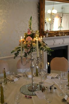 Our Regency Candelabra table design