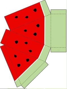 Read more about Origami Art Printable Box, Printables, Paper Fruit, Diy And Crafts, Crafts For Kids, Foam Crafts, Origami 3d, Watermelon Birthday, Fruit Box