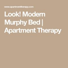 Look! Modern Murphy Bed | Apartment Therapy