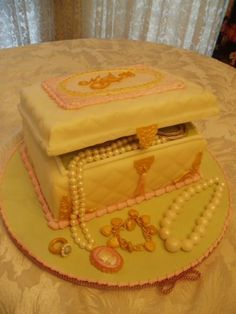 Jewelry Box Cake By susgene on CakeCentral.com