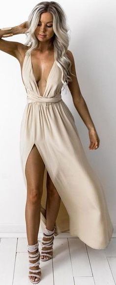 #summer #feminine #outfits | Silk Multiway Gown Nearly Naked