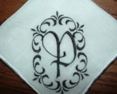 Personalized Embroidered Handkerchief by cajunstitchery on Etsy, $14.50