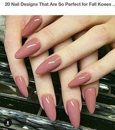 Dark blush, almond nails