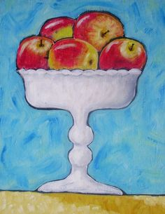 Gala Apples in a Compote by OldCoastRoad on Etsy