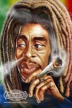 Bob Marley por Michel Achard