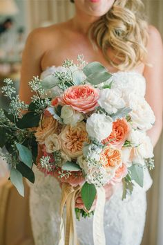 A 1920s-Inspired Wedding In San Francisco #refinery29  http://www.refinery29.com/martha-stewart-weddings/21#slide6  Alex carried a bouquet of dahlias, begonias, dusty miller, and roses designed by florist Natalie Bowen.RELATED: A Fall Wedding That'll Have You Feeling The Love