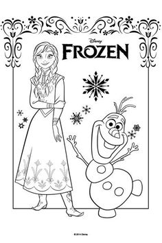 olaf s summer coloring page disney frozen crafts and