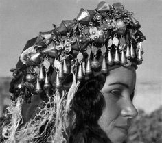 Africa | Ait-dancer Bougmez, Morocco | The headdress she is wearing is typical of the region | Photographer unknown. | ca. 1967